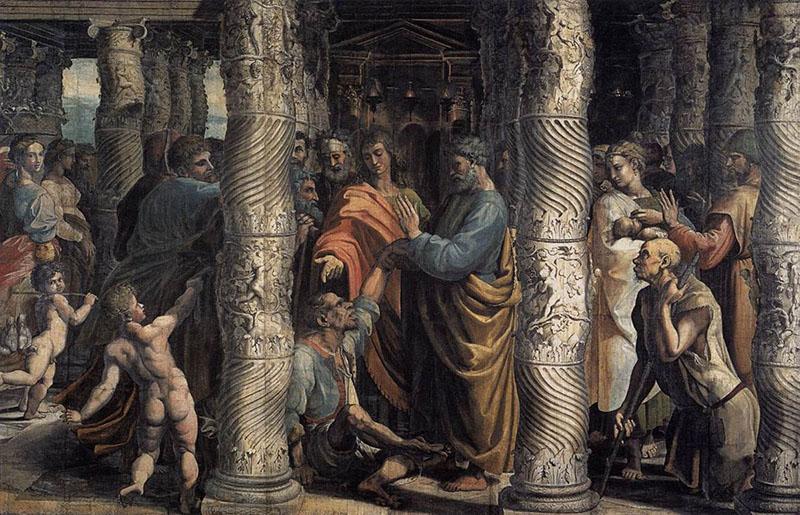 Rafaels lite märkliga tolkning av helandet av den lame i sköna porten