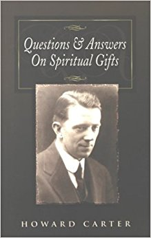Bokomslag med bild på Carter och titeln Questions and Answers On Spiritual Gifts