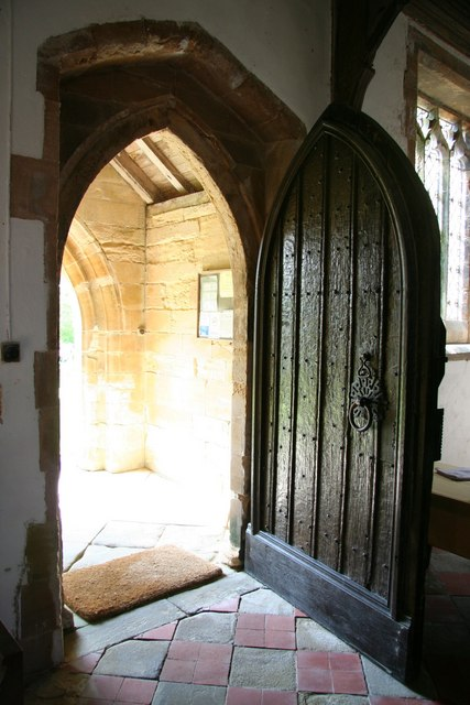 En öppen dörr