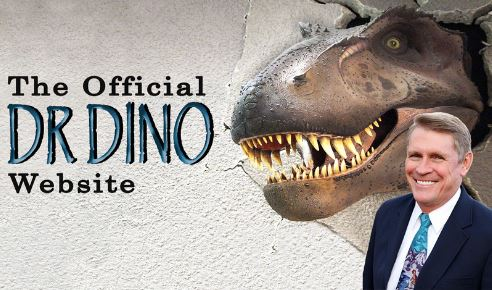 The official Dr Dino Web site, med bild på Hovind och en T rex
