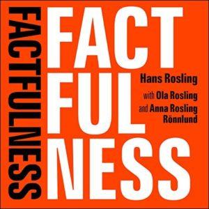 Bokomslag. Factfulness, av Hans Rosling, Ola och Anna Rosling