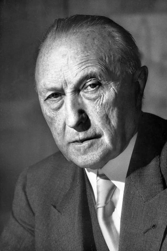 Porträtt av Adenauer
